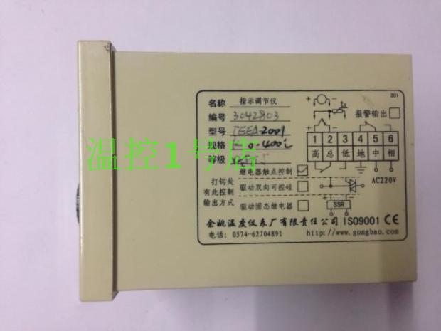 Authentic Yuyao temperature Instrument Factory TEEA indication regulator / TEEA-2001 temperature table pointer regulator plants regulator argon double table yar720