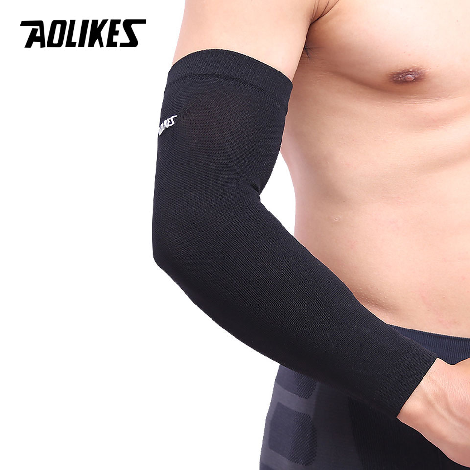 1pcs High Elastic Basketball arm Sleeve Armband Soccer Volleyball Elbow Support Brace Cotovelo de basquete Sports Protector