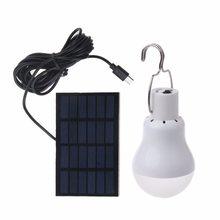 Lâmpada led com painel solar, iluminação led, equivalente de 15w, energia solar, 130lm, para áreas externas, jardim luz clara