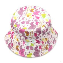 Good Quality Fashion New Toddler Kids Baby Boys Girls Floral Pattern Bucket Hats Sun Helmet Hat Summer Accessories