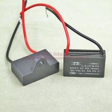 (10pcs/lot) CBB Capacitors 1.2uf 450V AC CBB61 Metallized Capacitor For Motor Start-up Ceiling Fan TOL:5%