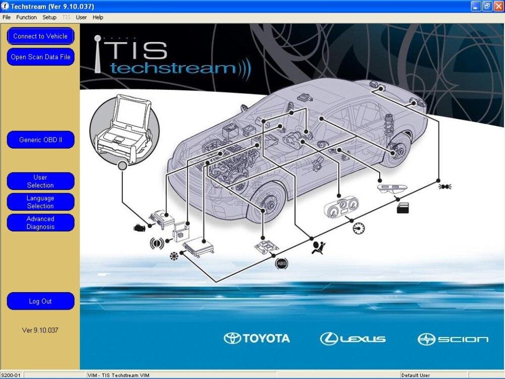 ТиС Techstream версии V12.30.017 [12.2017] + кряк+флэш перепрограммирования DVD для Toyota