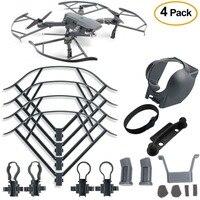 4Pcs Protection Accessories Kits Landing Gear Lens Hood Gimbal Guard Propeller Guard Joystick Protector For DJI