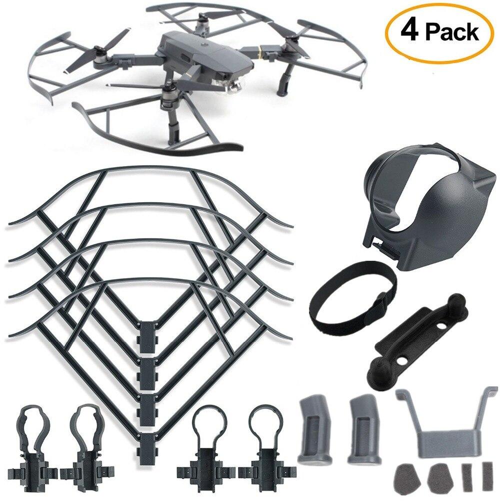 4Pcs Protection Accessories Kits Landing Gear+Lens Hood Gimbal Guard+Propeller Guard+Joystick protector for DJI Mavic Pro