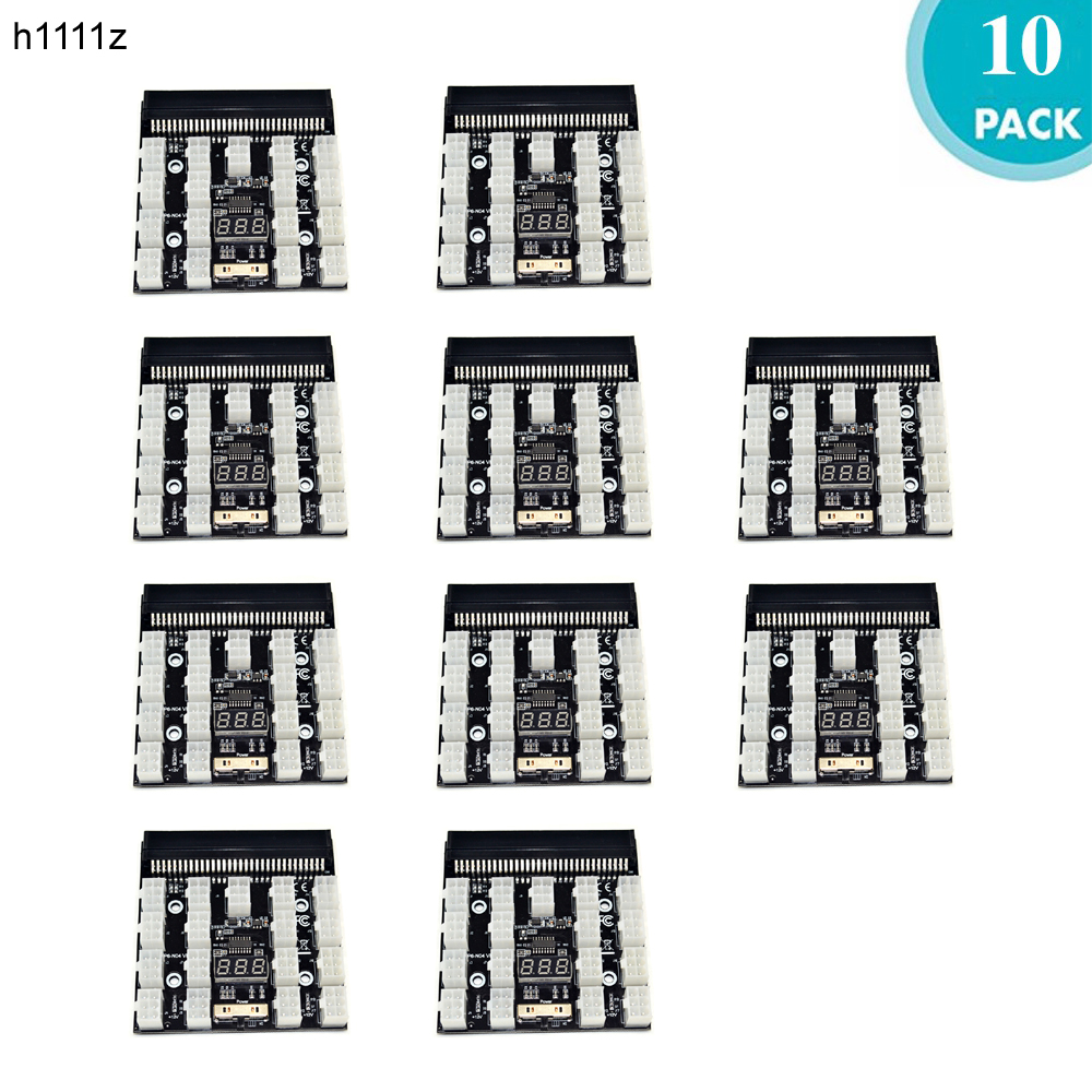 10PCS Server Computer Switch Power Converter 17 x 6Pin Power Interface Breakout Adapter Board for Bitcoin Miner Antminer Mining