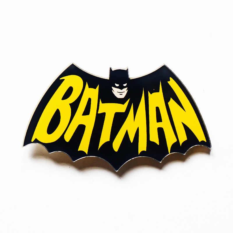 1 ピースバットマンスーパー hero s 原宿ピンバッジプラスチックブローチ hero バッジ服アイコンバックパックアクリルバッジ衣料用