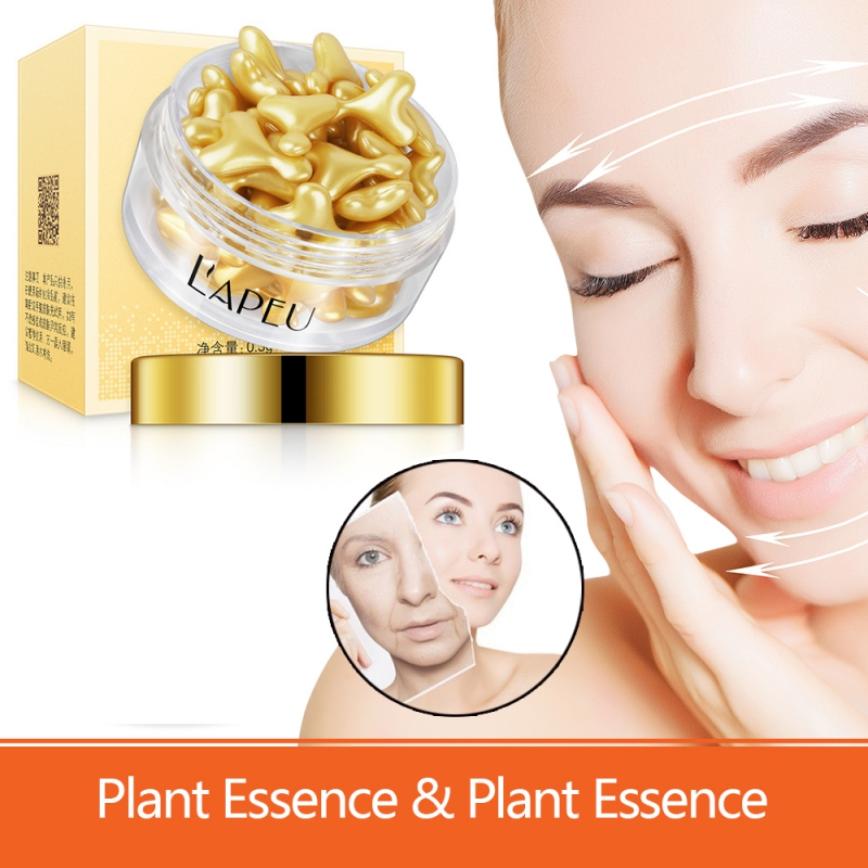 Sheep Placenta Gold Capsule Essence Hydrating Firming Skin Ant-wrinkle Anti-drying Face Serum