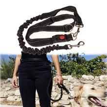 Эластичный поводок для собак Hands Free, поводок для домашних животных, Нейлоновый Регулируемый ремень для бега и бега, пояс для безопасности, принадлежности для обучения домашних животных
