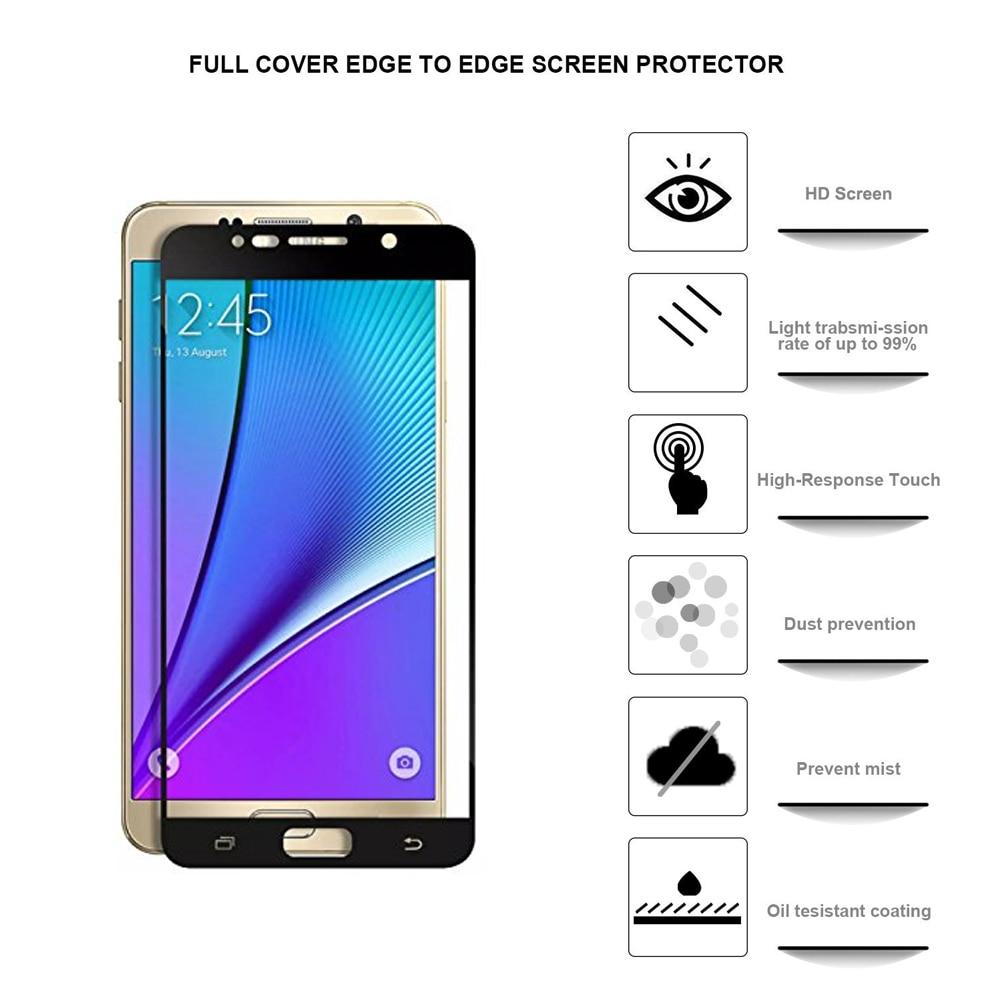 0.26MM 2.5D gücləndirilmiş ekranlı çap Samsung Galaxy S7 S6 S5 - Cib telefonu aksesuarları və hissələri - Fotoqrafiya 2