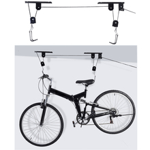 Bike Convenient Parking Rsck Lift Ceiling Mounted Hoist Storage Garage Practical Wall Hanger Pulley Rack Bicycle Accessory