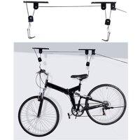 45LB велосипед Велосипедный Спорт поднять потолок подъемника гараж вешалка настенная шкив металлические стойки поднять сборки аксессуар