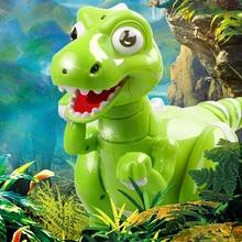 RC roboti robota rotaļlieta Dinozauru robota interaktīvās rotaļlietas Tālvadības pults ar dinozauru radio vadāmām dinozauro rotaļlietām