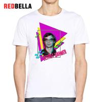 REDBELLA Murderer Serial Killers 80s Retro Men T Shirt Parody 3D Printing Fashion White Tshirt Male