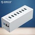 Orico a3h7-sv aluminio de alta velocidad de 7 puertos usb 3.0 hub de alta velocidad de 5 gbps con vl812 chip para pc portátil-plata-negro