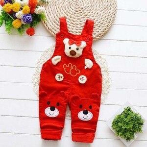 Image 5 - Pantaloni per neonati appena nati jeans carini in cotone per bambini bretelle per bambini pantaloni in denim 0 4T (baby outwear ragazzi ragazze pantaloni