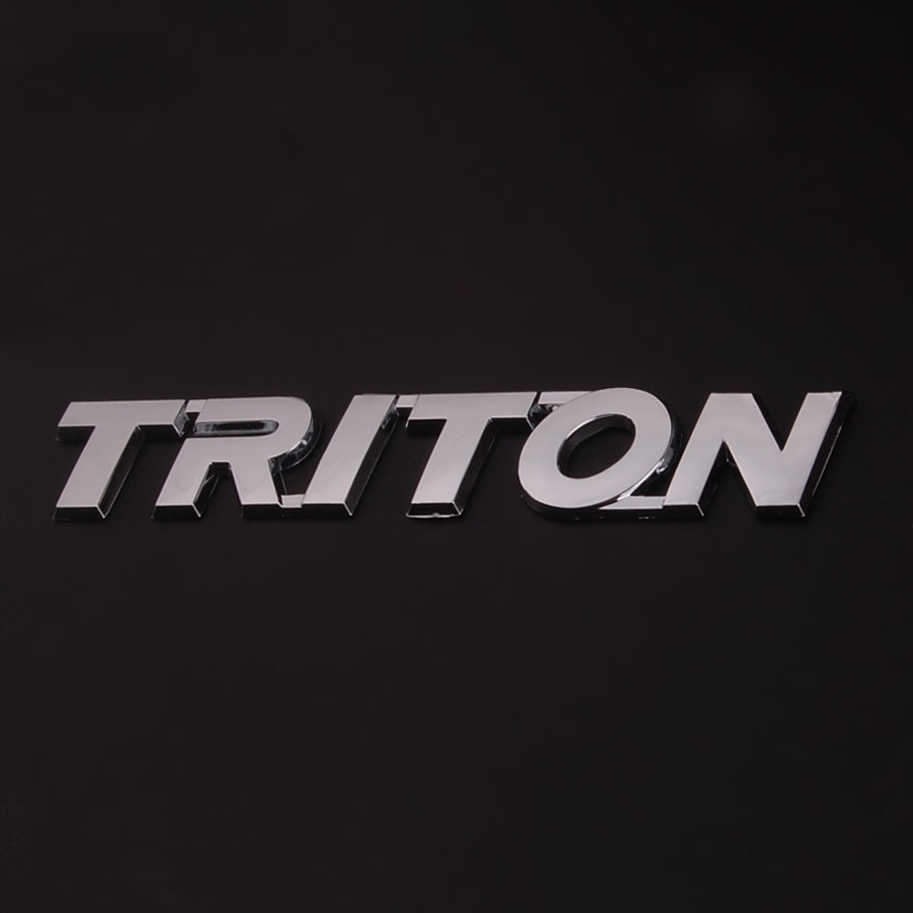 Auto Car TRUCKS Chrome LETTER TRITON Badge Emblem Sticker for MITSUBISHI TRITON 200 LOGO Car styling triton эко 60 белая