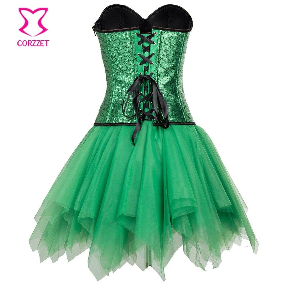 Groene jurk corset