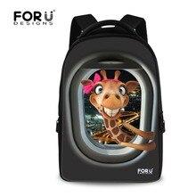 Зоопарк Животных Жираф Печати Женщины Школьный Рюкзак Большой Емкости Ноутбук Рюкзаки для Подростка Мальчиков Девушки Путешествия Рюкзак Mochila