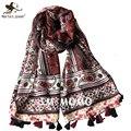 Открытый свободного покроя путешествия солнце - защита негабаритных шарфы этническая богемия стиль цветочный принт шарф осень зима платки и обертывания