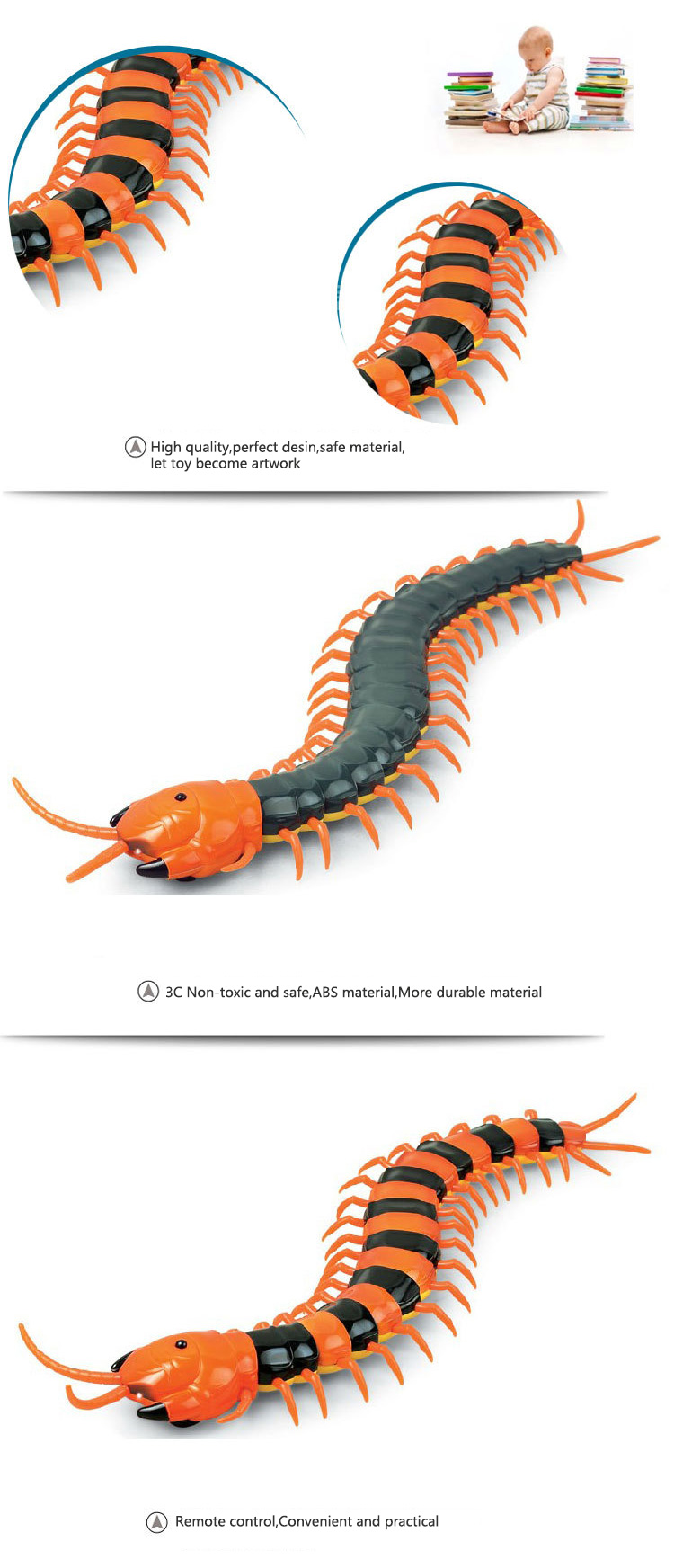 Dog Toy Electric RC Centipede Fake Insect Remote Control Centipede Creative Electric Tricky Funny Cat Toy For Cat 10