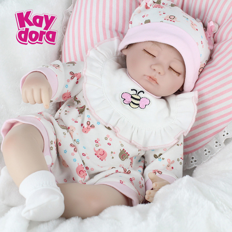 17 Inch 42cm Silicone Reborn Baby Dolls Alive Lifelike