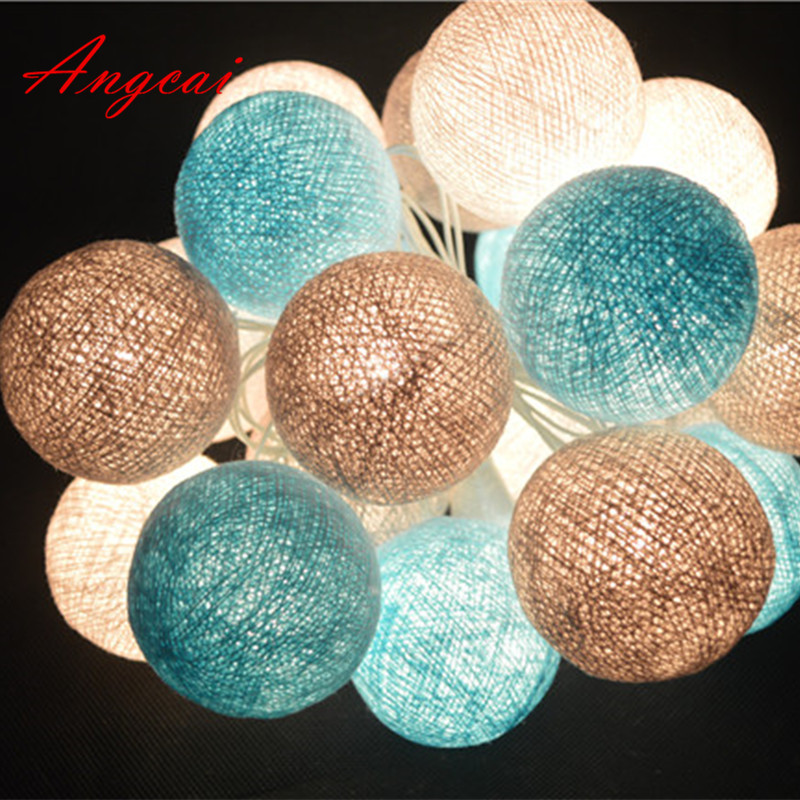 Cotton Ball String Lights Fairy Party