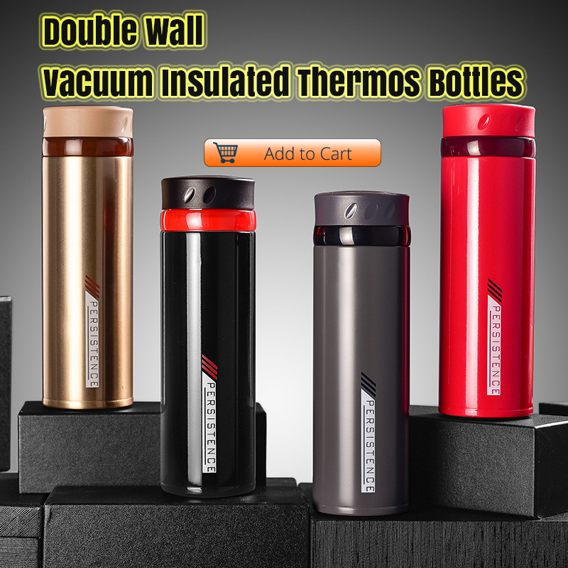 Stainless Steel Smart Water Bottle, Leak Proof, Double Walled, Keep Drink Hot & Cold, LCD Temperature Display