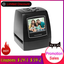 "Negative Film Scanner 35mm 135mm Slide Film Converter Photo Digital Image Viewer with 2.4"" LCD Build-in Editing Software(China)"