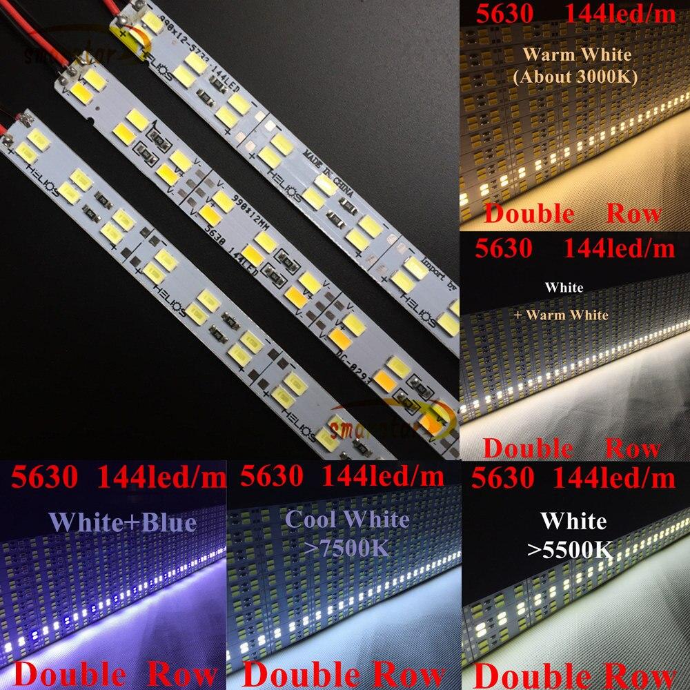 0,5 Mt Zweireihig 5630 (5730) Led Bar Licht Harte Starre Bar Dc 12 V 50 Cm Led Streifen Beleuchtung Lampe 144 Led/m Für Werbung Licht Mild And Mellow