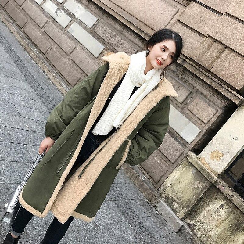 Taille Épaisse Manteau Hiver Femelle La L207 Veste Down Long Coton 2017 Capuche Femmes Rembourré Plus Green HaqIww