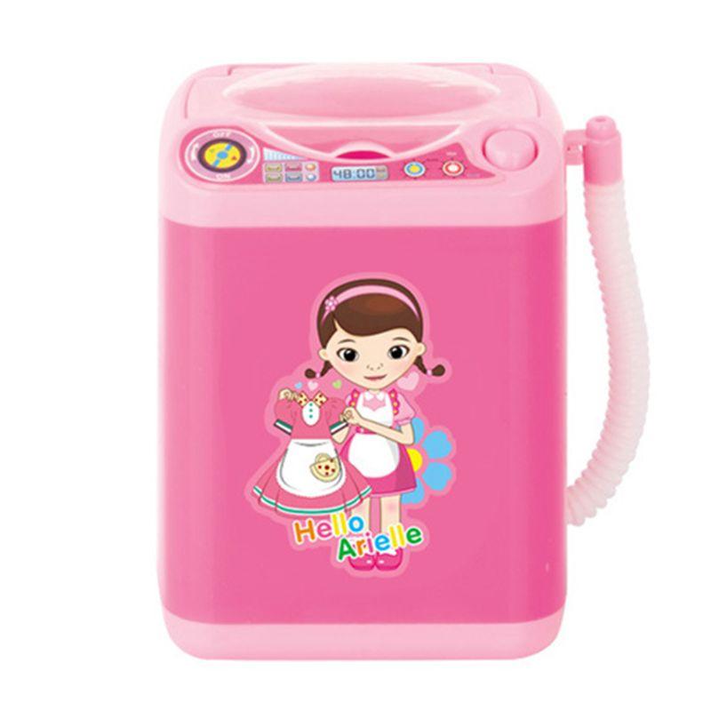 Mini Electric Washing Machine Dollhouse Toy Very Useful Wash Makeup Brush PTT