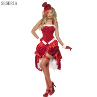 SESERIA New Halloween Cosplay Costume Female Cosplay Dress Adult Circus Clothes Women Clown Costume Halloween