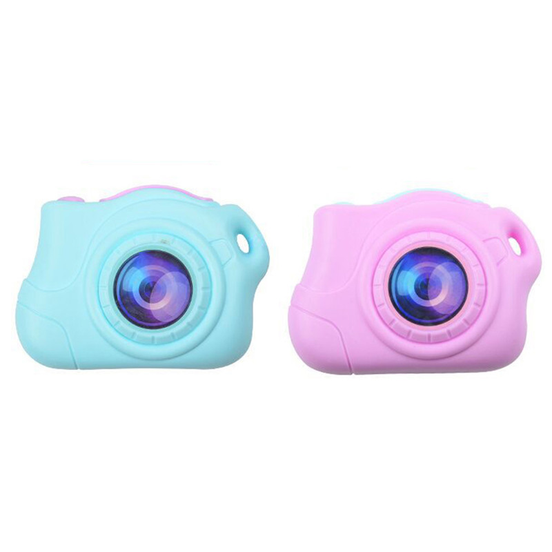 Mini Blue Pink Portable Electronic Plastic Camera fan creative toy Puzzle Educational Toys for Kids Creative Christmas Gift