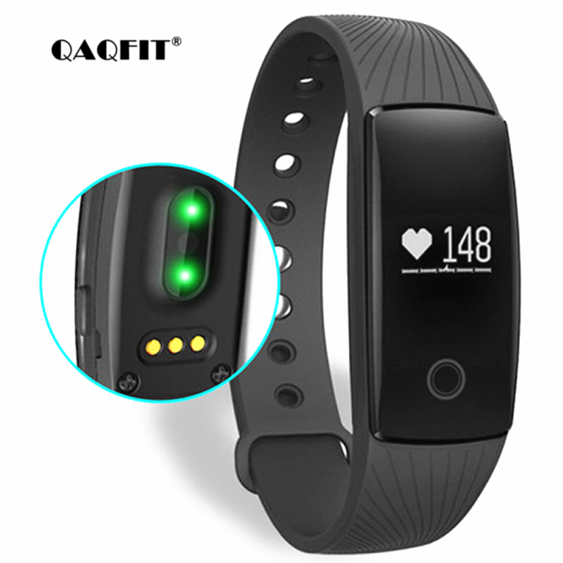 все цены на QAQFIT Smart Bracelet Heart Rate Monitor Wristband Fitness Bracelet for Android iOS PK xiaomi mi Band 2 fitbits smart ID107