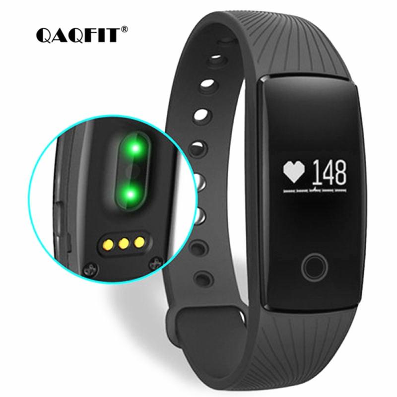 QAQFIT Smart Bracelet Heart Rate Monitor Wristband Fitness Bracelet for Android iOS PK xiaomi mi Band 2 fitbits smart ID107 new original xiaomi mi band 1s heart rate monitor smart wristband xiaomi miband bracelet 1 s ip67 bluetooth for android ios