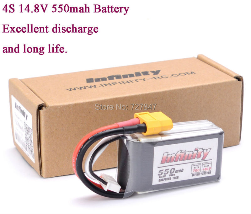 Rechargeable Lipo Battery For Infinity 4S 14.8V 70C 550mAH Lipo Battery With XT60 Plug Connector 3 6v 2400mah rechargeable battery pack for psp 3000 2000