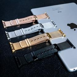 Banda Strap para apple watch 4 44mm/apple watch 3 40mm milanese laço/2/1 banda iwatch 42mm /38 milímetros Em aço Inoxidável pulseira correa 42