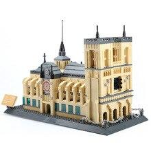 Wange World Famous Building 1380pcs Notre Dame de Paris Building Blocks Model Toys Educational brinquedos Gift for Children 5210