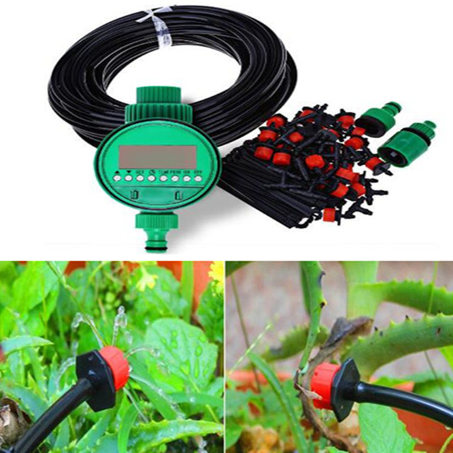 20m DIY Micro Drip Irrigation System Plant Self Automatic Watering ...