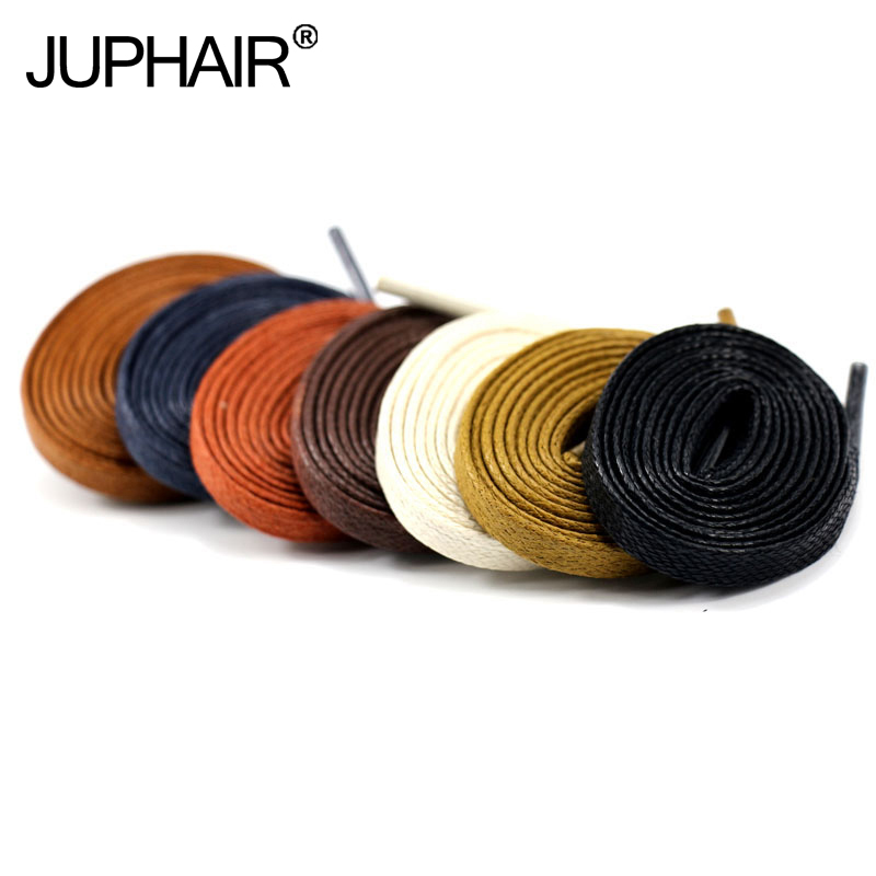 JUP 3 Pairs Waxed Cotton Flat Shoelaces Leather Shoes Shoestring Boots Shoe Laces Martin Length 60-180CM