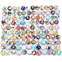 10pcs/lot Mixed Colors Blessing 18mm Glass Snap Button Jewelry Faceted Fit Bracelet Boom Life Snaps jewelry 0742