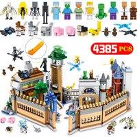 Шт. 4385 шт. волшебный орган замок модель здания Конструкторы Legoing Minecrafted Мини Дракон Aminal Alex фигурки героев кирпичи дети игрушечные лошадки