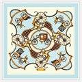 [LESIDA] Sarja Lenço De Seda, o Novo Pequeno Lenço Quadrado 60*60 cm 6015