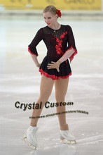 Ice Figure Skating Dress For Kids Fashion New Brand Competition Figure Skating Dresses Crystal Custom DR3632