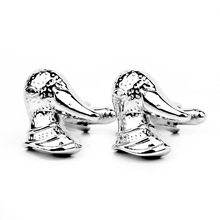 hot deal buy cartoon trendy animal cuff links creative duck head silver cuff button men's french shirt cufflink wedding jewelry gift