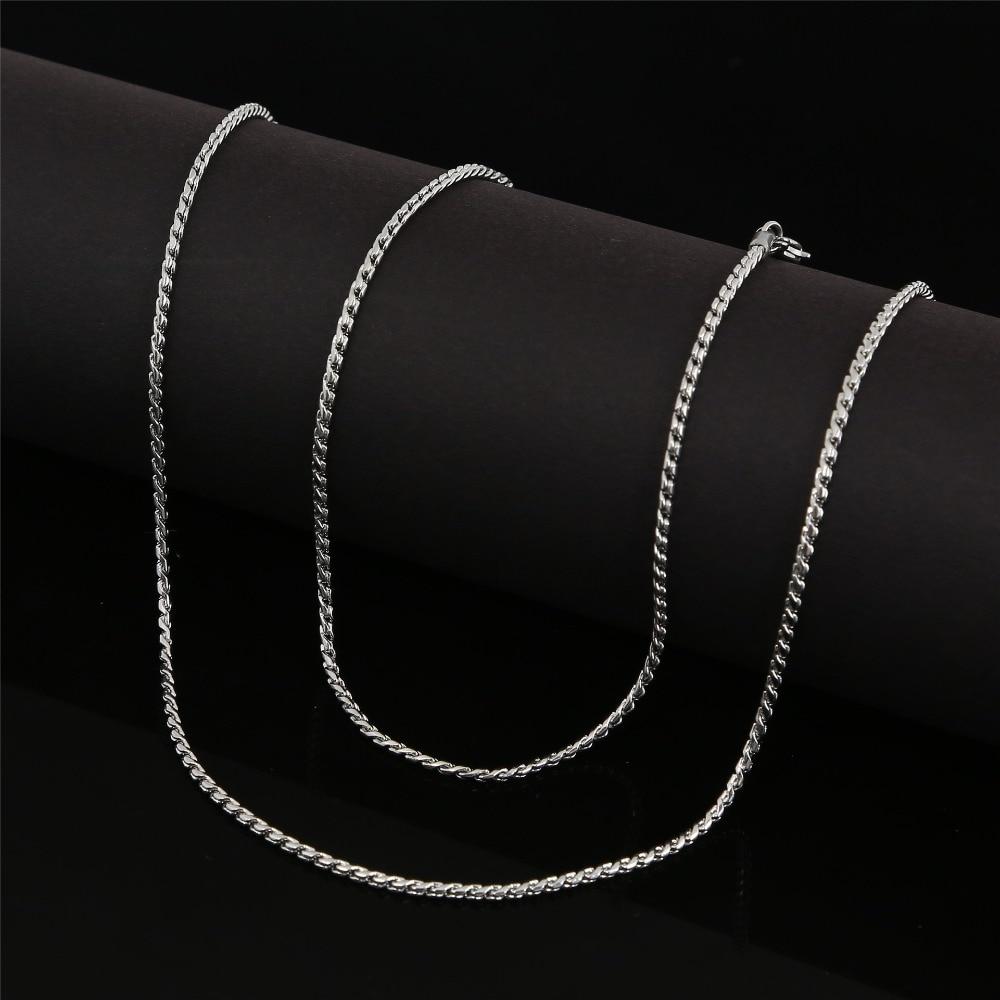 4362c4a58a66 SOMSOAR joyería 60 cm Acero inoxidable serpiente cadena apta mi moneda  colgante collar 10 unids lote