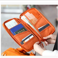 Free Shipping Travel Women Men Long Passport Bags Holders Organizer Wallet Purse Card Case