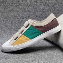 Canvas shoes men 2019 summer breathable mens new trend Korean casual wild