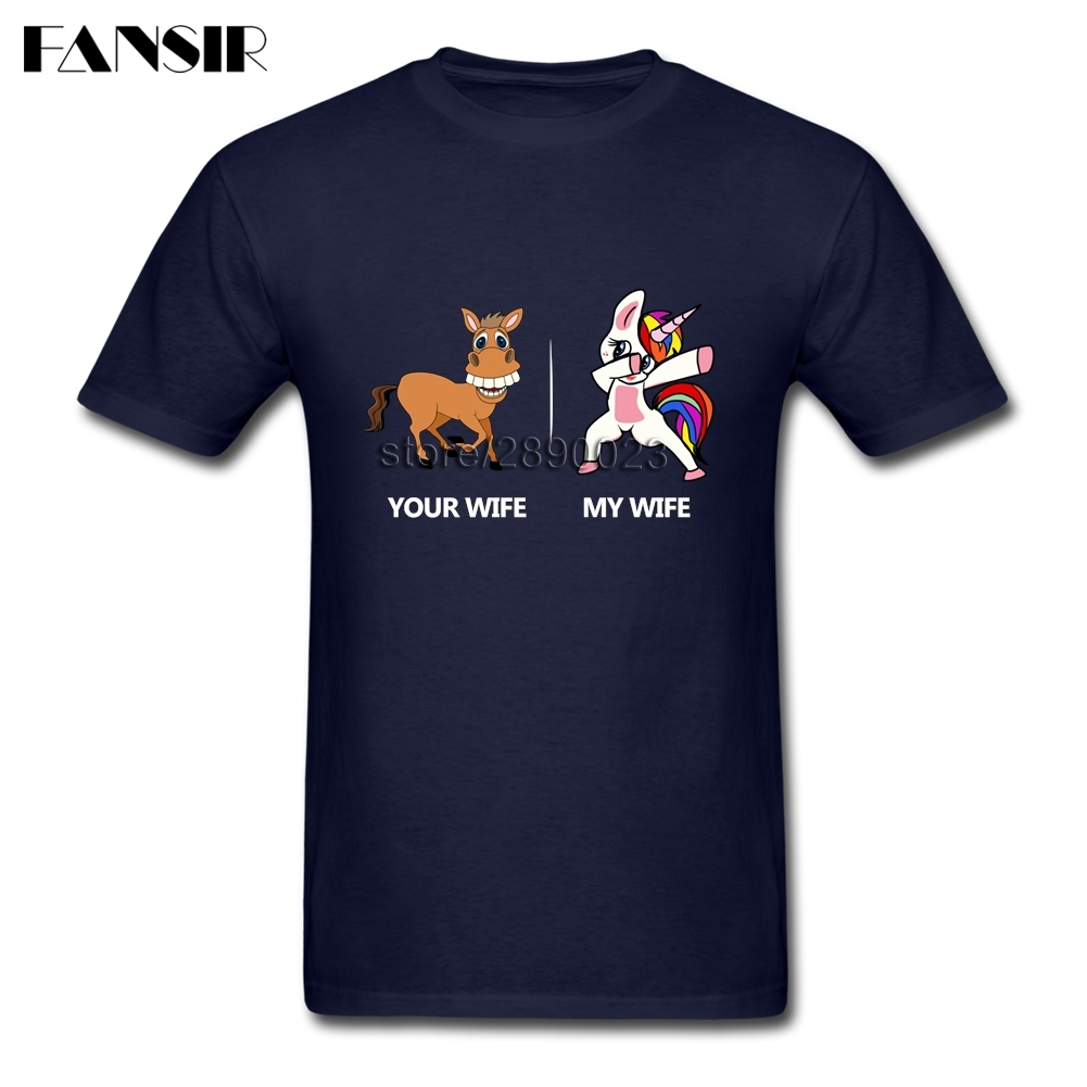 XS 3XL Your Wife My Wife Dabbing Unicorn Gorgeous Shirts Male White Short Sleeve Custom Men T Shirt Adult Clothes Tops