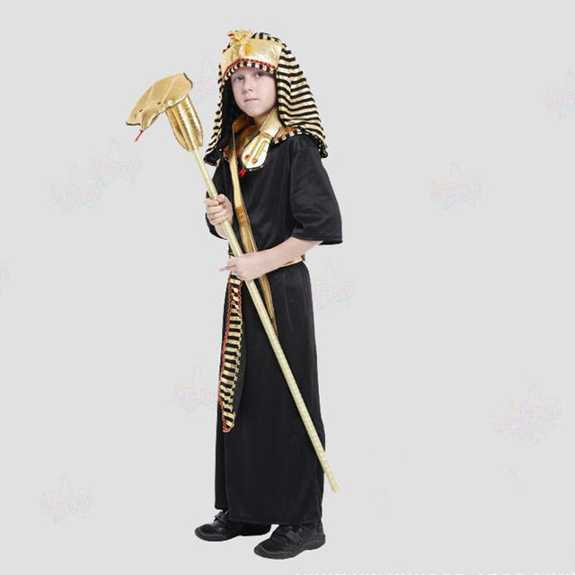 2018 Kids Egypt Pharaoh Costume Children Boys Cosplay Costumes Halloween Carnival Fancy Dress Party Decoration Purim & Online Shop 2018 Kids Egypt Pharaoh Costume Children Boys Cosplay ...